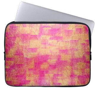 Art Gold Stainless Steel Metal 2 Laptop Sleeve