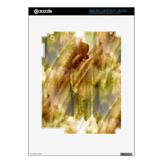 art green, brown hand paint background seamless decals for iPad 3