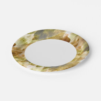art green, brown hand paint background seamless paper plate