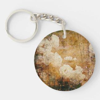 art grunge floral vintage background texture keychain