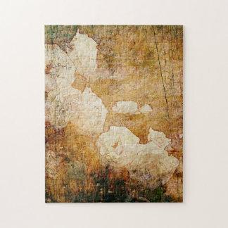 art grunge floral vintage background texture puzzle