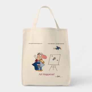 ART HAPPENS! by April McCallum Canvas Bag