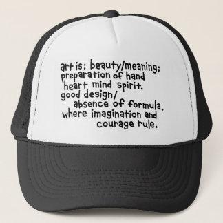 art hat. trucker hat