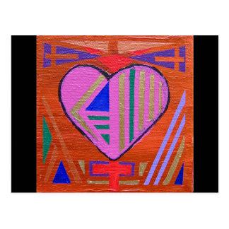Art Heart #4 Postcard