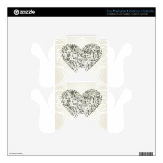 Art heart PS3 controller decal