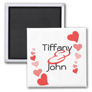 Art Hearts 2 Inch Square Magnet