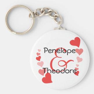 Art Hearts Basic Round Button Keychain