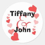 Art Hearts Round Stickers