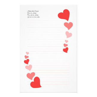 Art Hearts Stationery Design