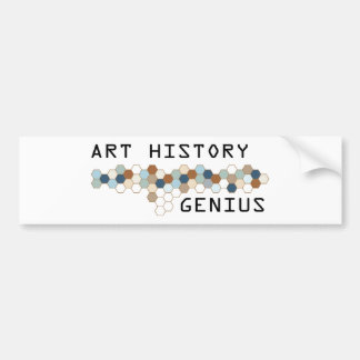 Art History Genius Bumper Sticker