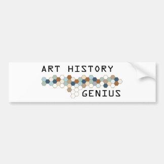 Art History Genius Car Bumper Sticker