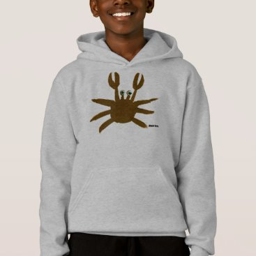 Beach Themed Art Hoodie: Crazy Crab Seaside Holiday Top