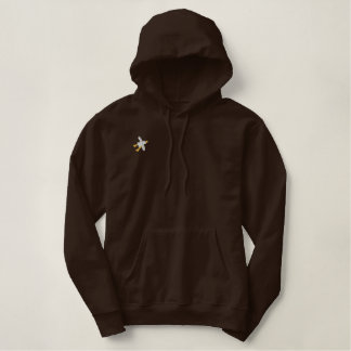 Art Hoodie: John Dyer Seagull. Cocoa Embroidered Hoodie