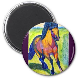 Art Horse 2 Inch Round Magnet