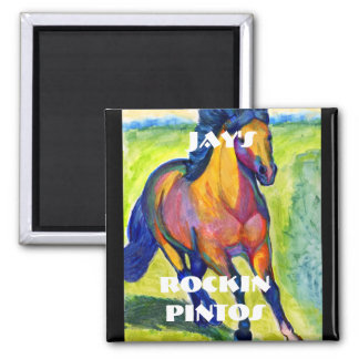 Art Horse 2 Inch Square Magnet