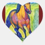 Art Horse Heart Sticker