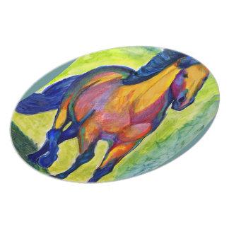 Art Horse Melamine Plate