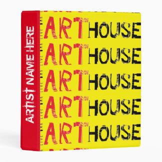 Art House Red Mini Binder