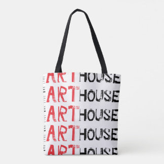 Art House Red Tote Bag