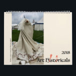 """Art Hystericals 2018 Calendar<br><div class=""""desc"""">The Schaeffer family of historical reenactors interpret medieval and Renaissance art,  bringing art history to life while taking ourselves *very* seriously.</div>"""