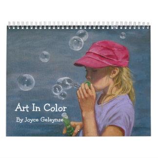 Art In Color: Joyart: Original Paintings Calendar