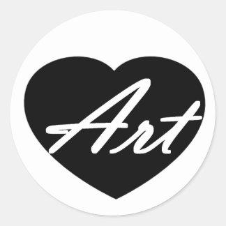 Art In My Heart Classic Round Sticker