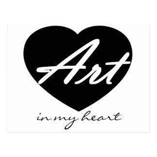 Art In My Heart Postcard