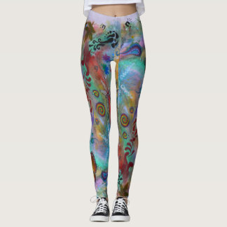 Art in Nature, handmade Leggings