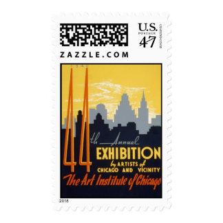 Art Institute 44th Exhibition Postage