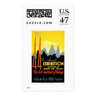 Art Institute Chicago 1940 WPA Postage