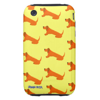 Art iPhone 3G 3GS Case Sausage Dog iPhone 3 Tough Covers