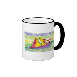 Art is a Boat with a Rainbow Sail Coffee Mug