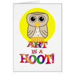 Art is a Hoot Greeting Card