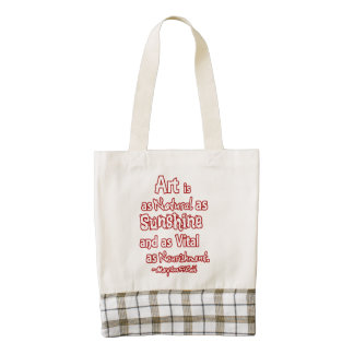 Art is a natural as sunshine and as vital ... zazzle HEART tote bag