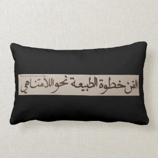 art is a step of nature towards the infinite one lumbar pillow