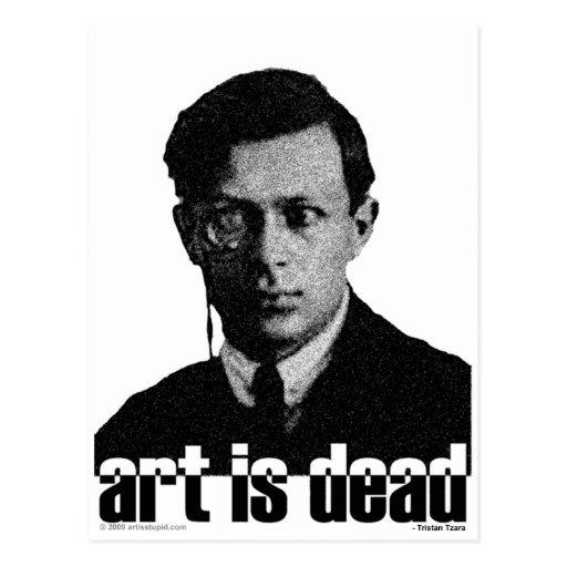 Art Is Dead Postcard