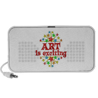 Art is Exciting Portable Speakers