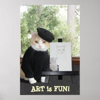 ART is FUN CAT Poster