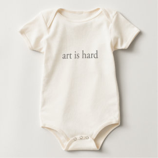 art is hard baby bodysuit