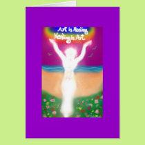 Art is Healing Card
