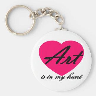 Art Is In My Heart Keychain