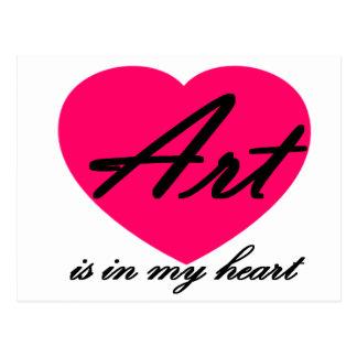 Art Is In My Heart Postcard