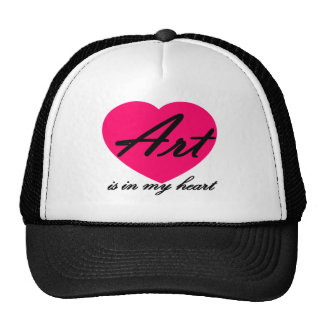 Art Is In My Heart Trucker Hat