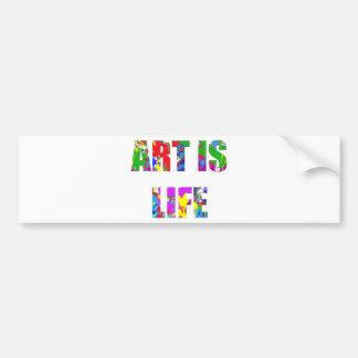 ART IS LIFE BUMPER STICKER