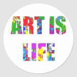 ART IS LIFE CLASSIC ROUND STICKER