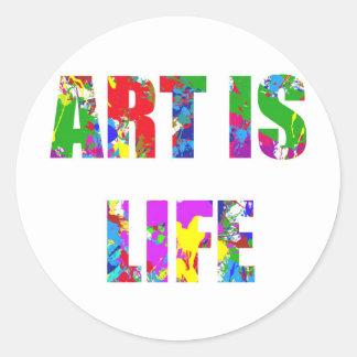 ART IS LIFE CLASSIC ROUND STICKER