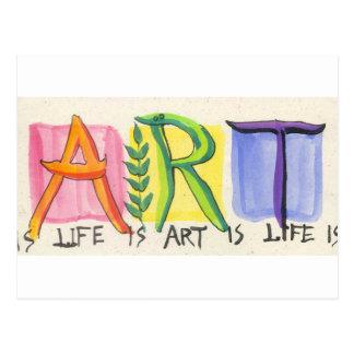 ...Art Is Life Is Art Is... Postcard