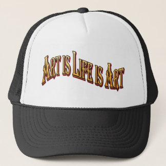 Art Is Life Is Art Trucker Hat