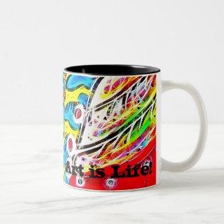 Art is Life Mug!! Two-Tone Coffee Mug