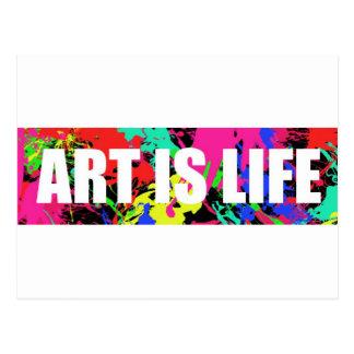 ART IS LIFE POSTCARD